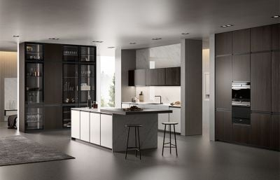 Contemporary High Gloss White Lacquer Kitchen Cabinets
