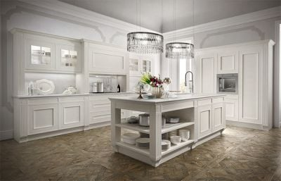 Luxury White Solid Wood Kitchen Cabinets