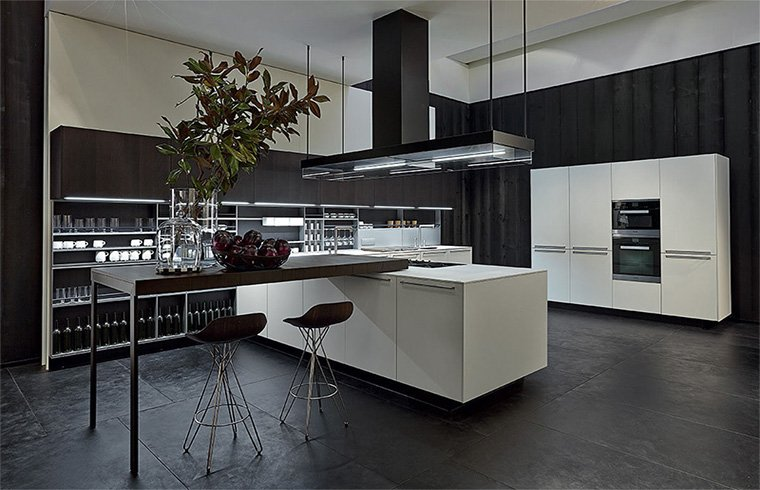 Modern Customized White Lacquer Kitchen Cabinets