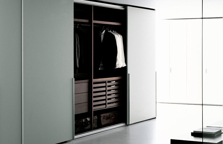 Contemporary Simple Luxury Design Melamine Sliding Door Wardrobe
