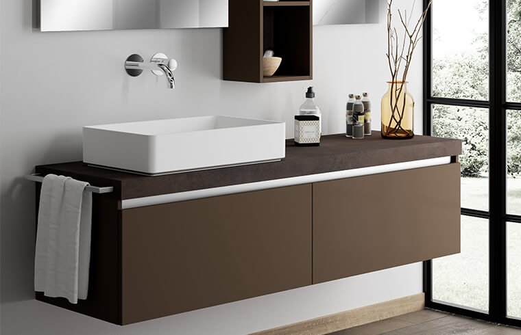 Popular Lacquer Bathroom Vanity