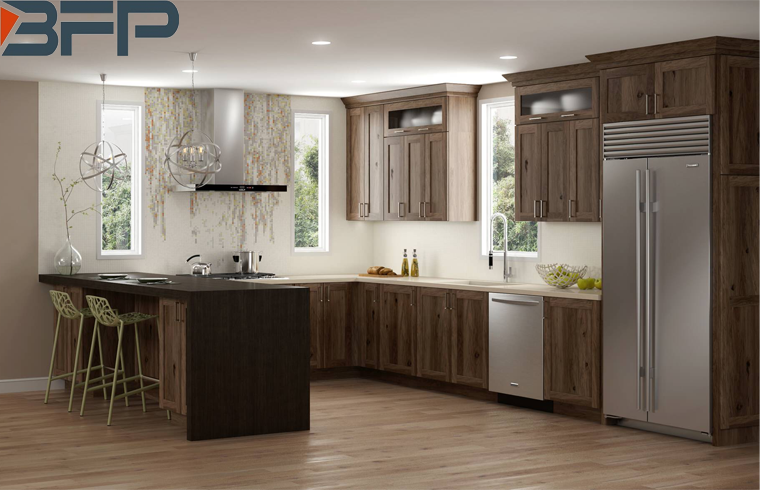 Towards Nature With A Rustic Hickory Kitchen